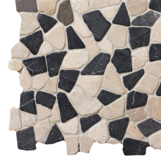 Mosaic Grey-White marble 300x300mm