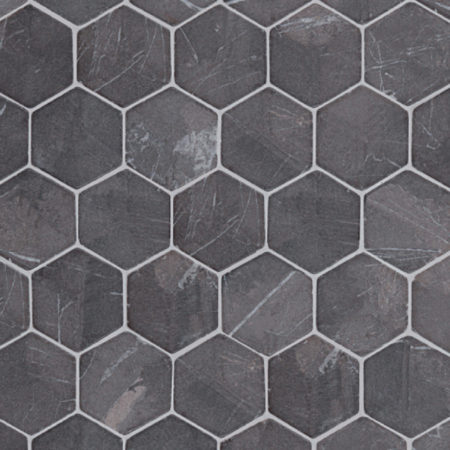Hexagon Grey marble, 60x60mm